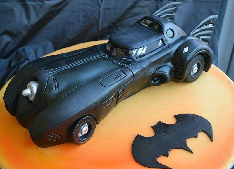 Batman Car Cake Batmobile Pinterest Batman car Car cakes and Cake