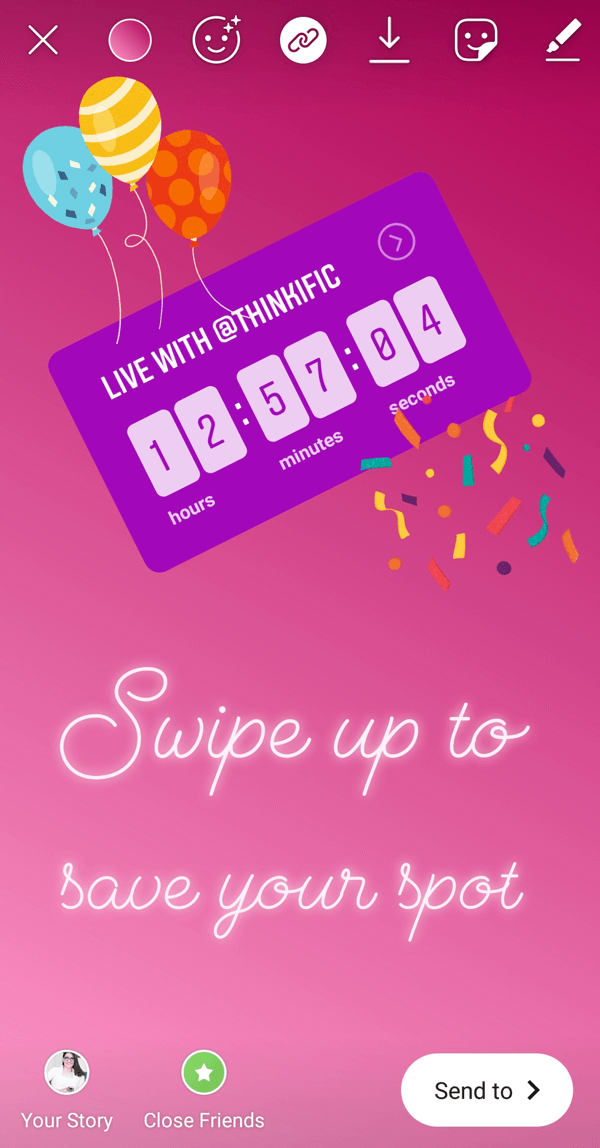 How To Use The Instagram Countdown Sticker For Business Countdown Instagram Social Media Pins