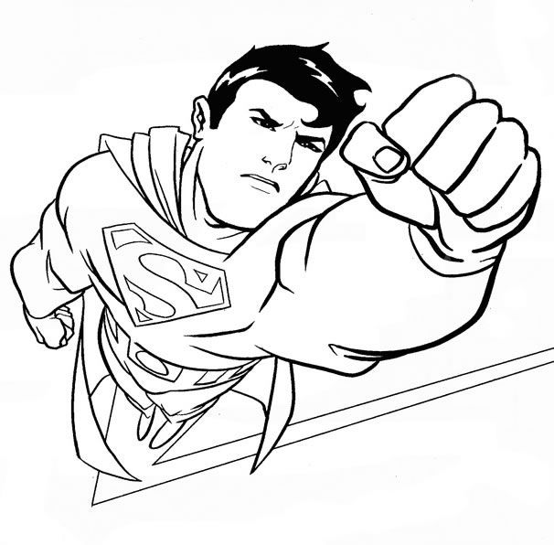 Coloring: Superhero Superman Coloring Pages with Astonishing ...