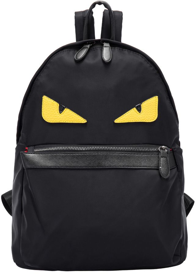 8a0c34f4fa8 This is not a Fendi Monster backpack, but it's a really good knock off! Get  this black eye patterned backpack on ShopStyle