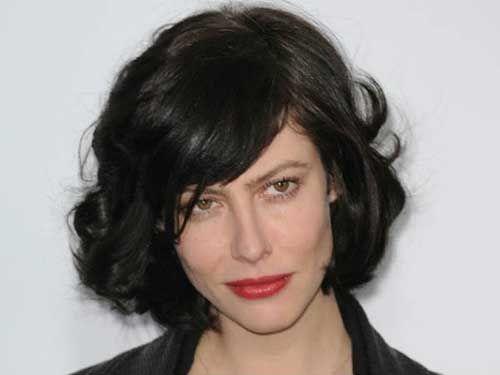 Short Wavy Hairstyles Ese : French actress anna mouglalis perfect curly bob short hair