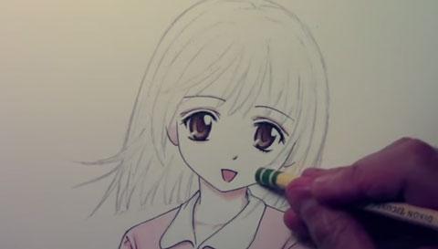 رسومات سهلة وجميلة اجمل رسومات الاطفال والكبار احبك موت Female Sketch Art Anime