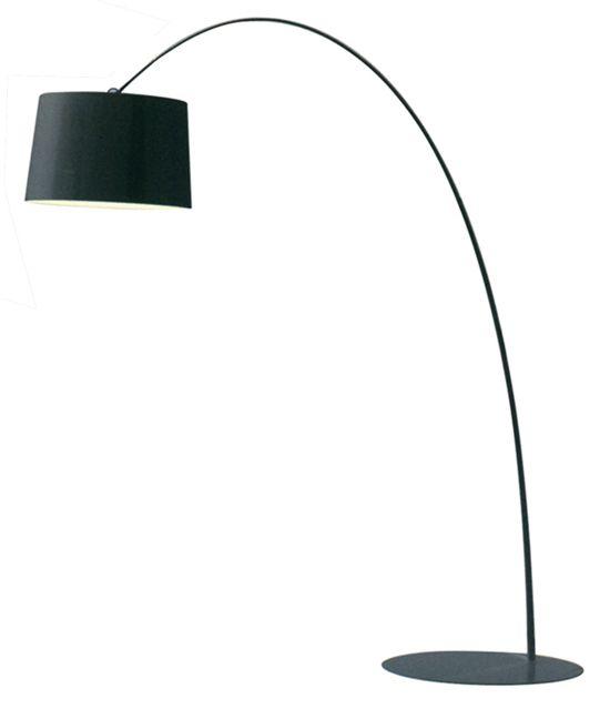 Black Retro Arch Floor Lamp