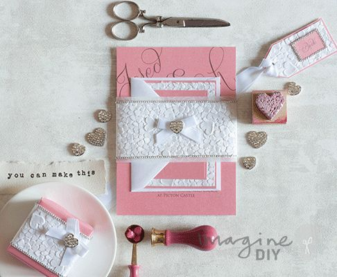 How To Make Heart Embossed Stationery Craft Wedding Diy