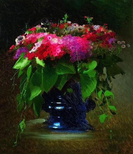 Blumenstrauß der Blumen - Ivan Kramskoi