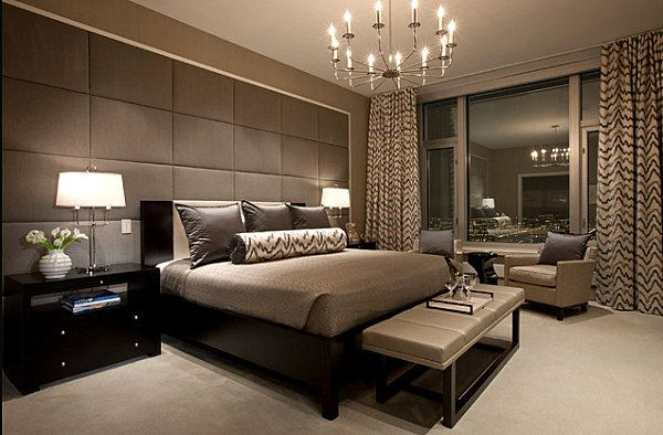 Luxury Men Bedrooms his and hers: feminine and masculine bedrooms that make a stylish