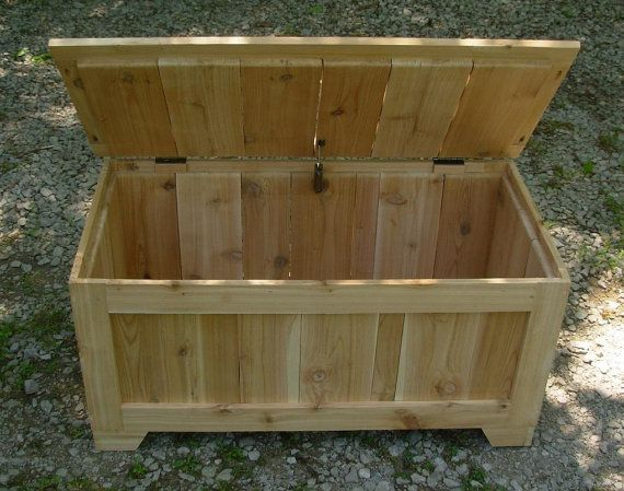 Unfinished Rustic Reclaimed Cedar Toy Box Blanket Chest