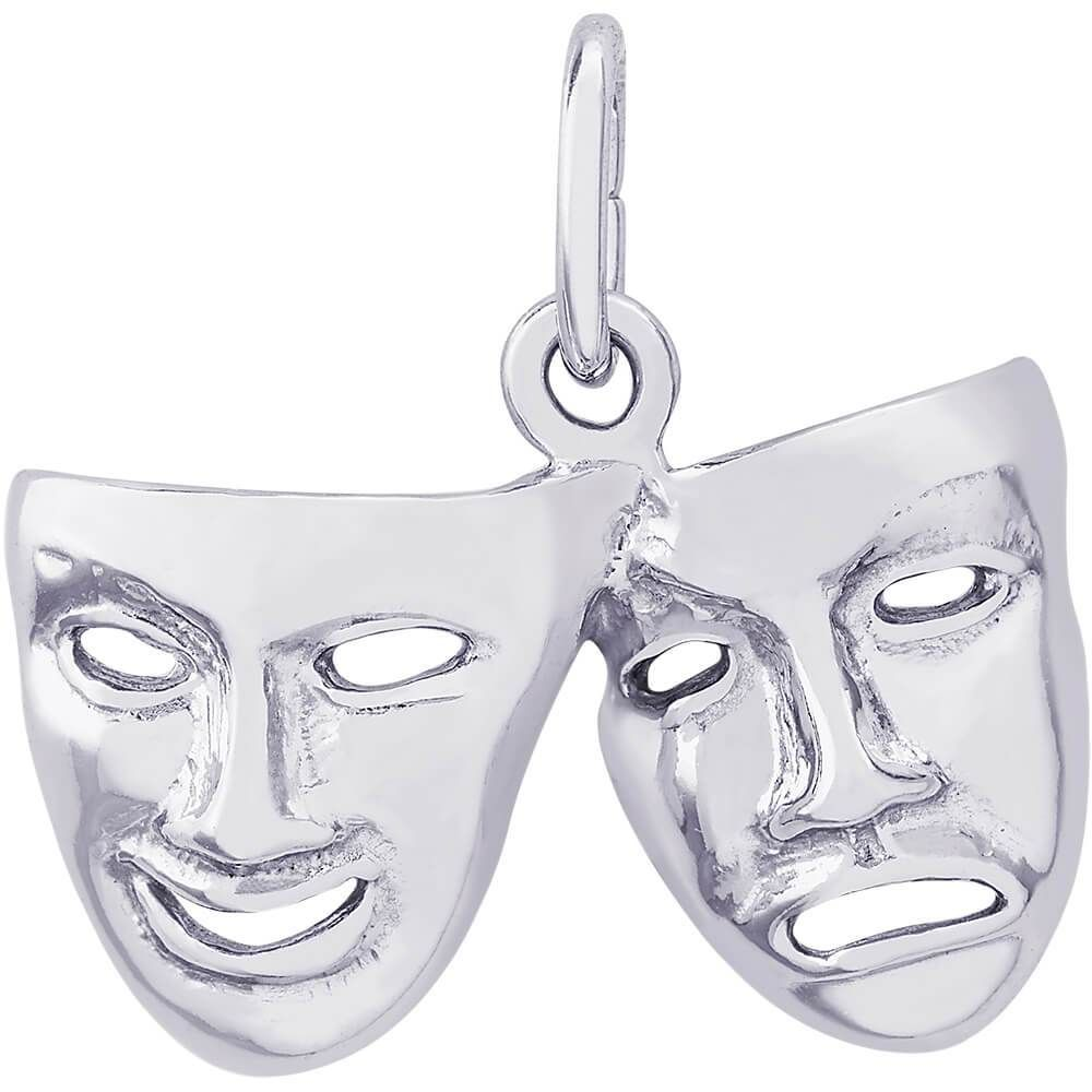 Comedy /& Tragedy Masks Rembrandt Bracelet Charm 2123