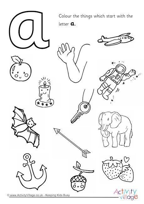 Start With The Letter A Colouring Page Letter A Coloring Pages