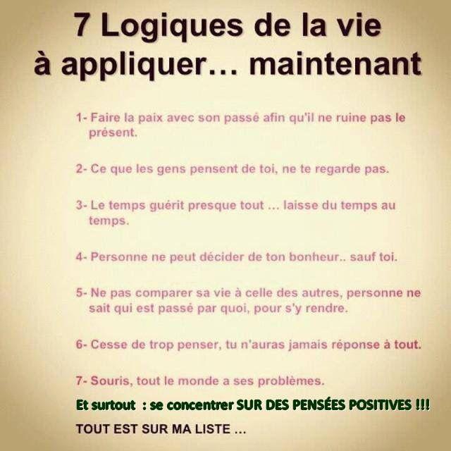 7 logiques de la vie