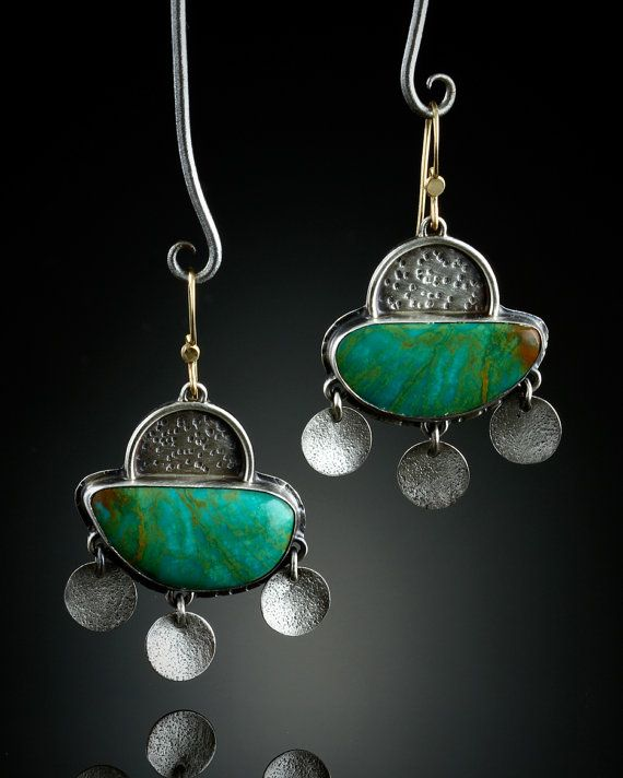Royston Turquoise Earrings by amybuettner on Etsy