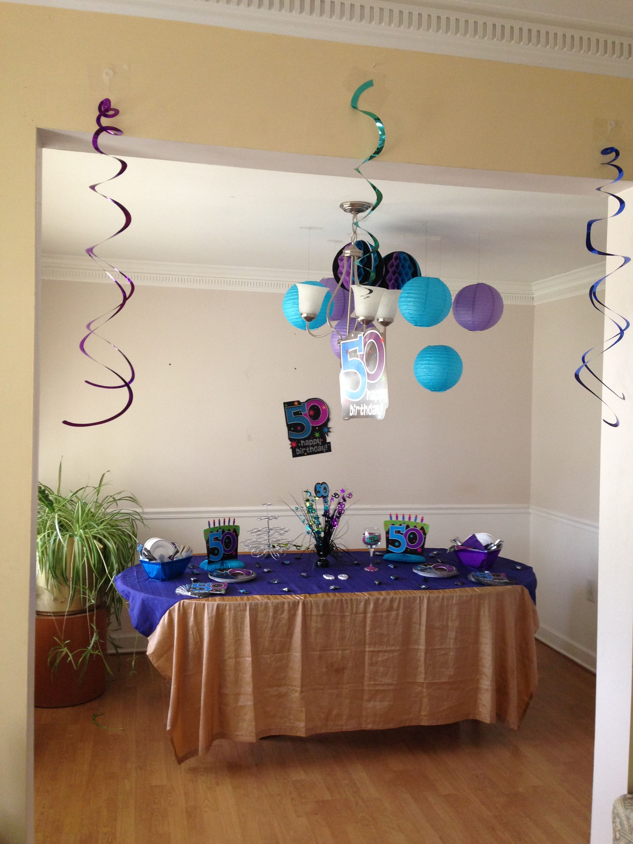 50th Birthday Decor Decorations Dad Ideas Baby Party