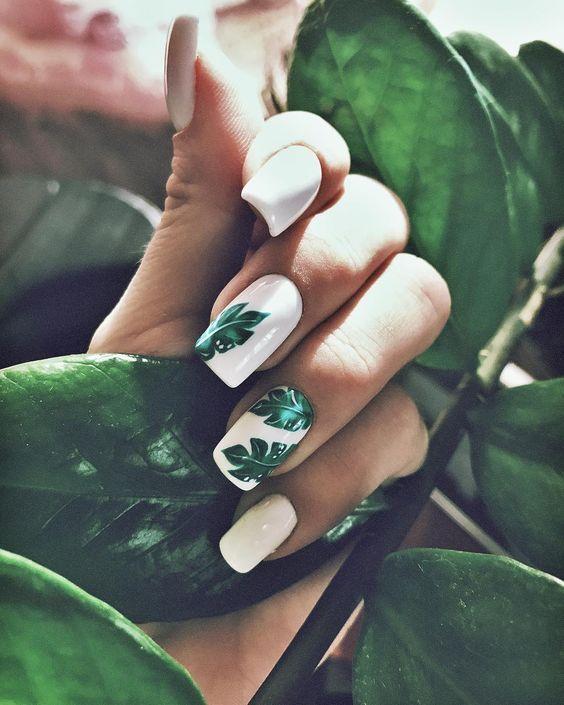 Photo of 32 hübsche Blatt Nail Art Designs