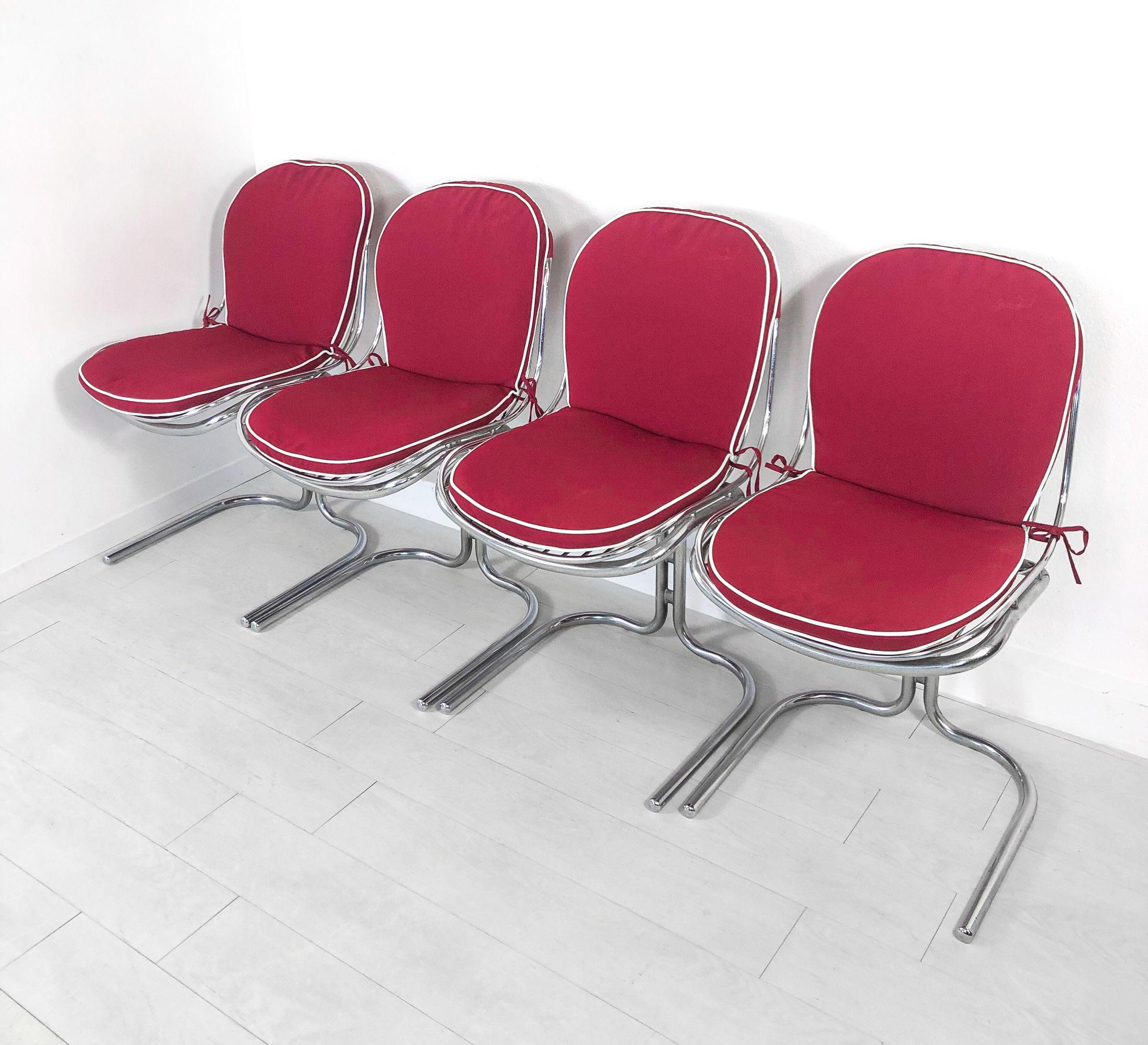 Set di quattro sedie design attribuito a Gastone RINALDI