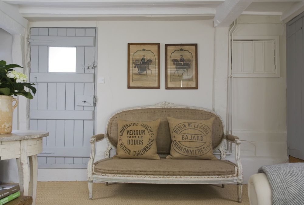 Anton  K - Vintage French grain sack cushions - this one is sold ...