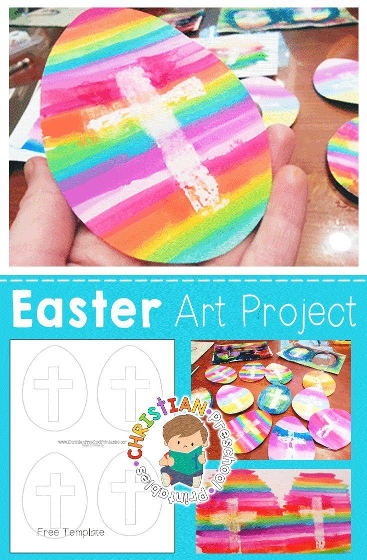Easter Cross Art Project for Kids! Stunning Easter Cross Craft ...