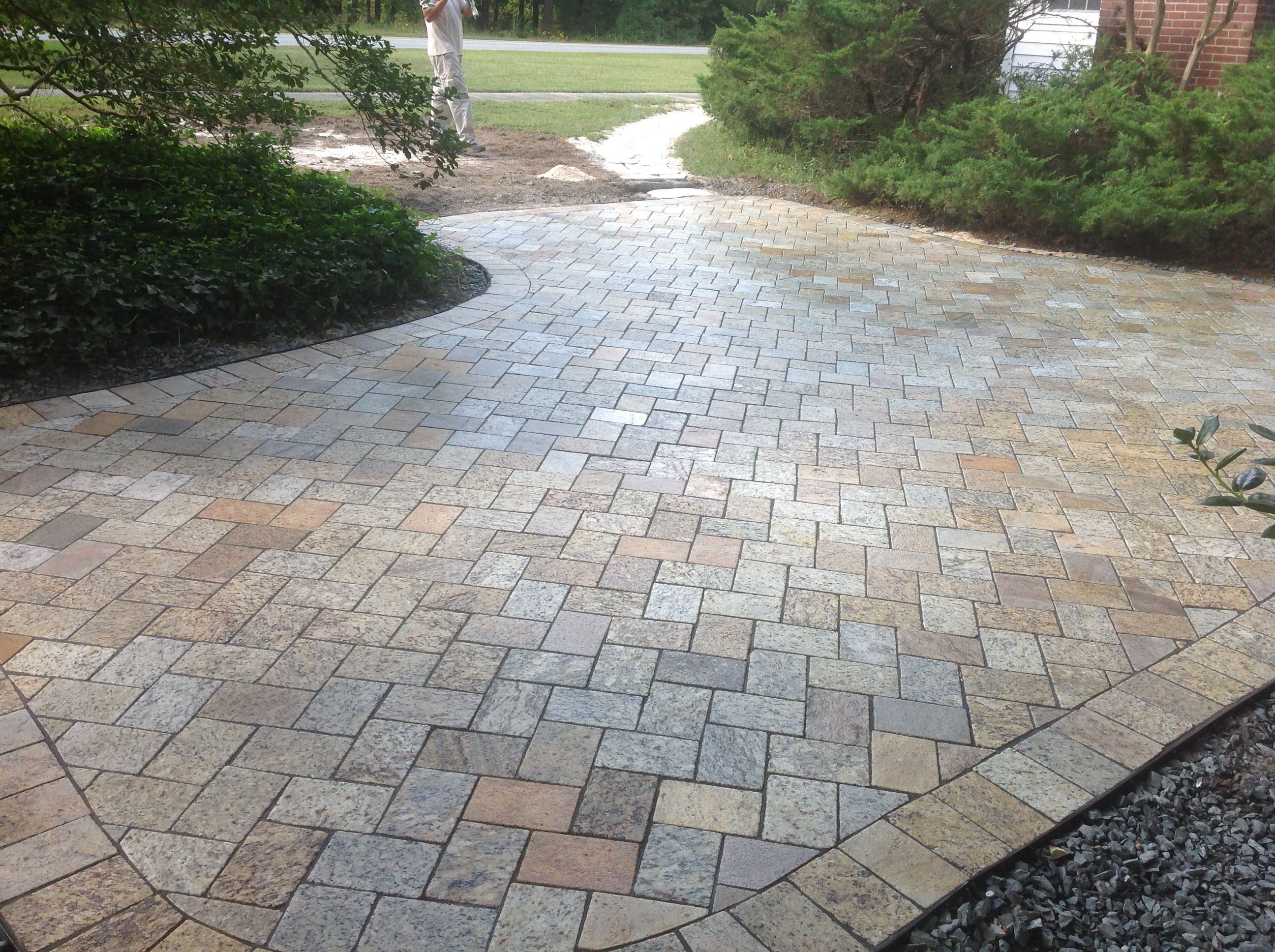 earthstoneproducts.net.    Recycled granite patio pavers used to create this meditation patio.
