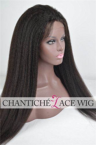 "Chantiche Glueless Italian Yaki Silk Top 4x4"" Full Lace Wigs For Black Women Best Indian Remy Human Hair Wigs with Baby Hair 130 Density Medium Size Cap 14inches"