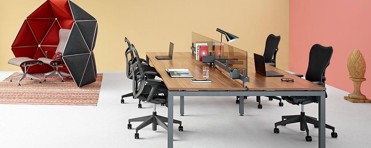 Herman Miller Office Desk. Sense   Office Furniture System Herman Miller  Desk L