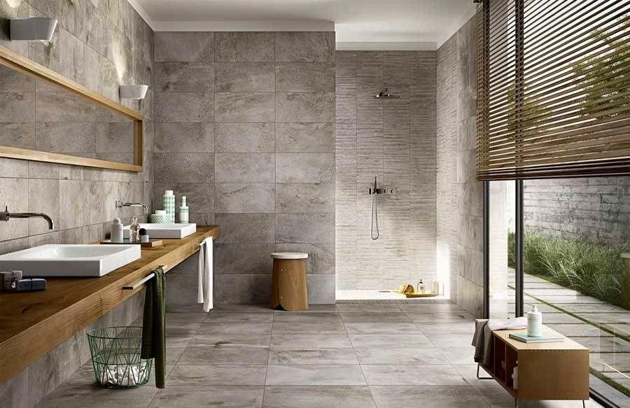 Bildergebnis für badezimmer design fliesen grau Badezimmer Pinterest