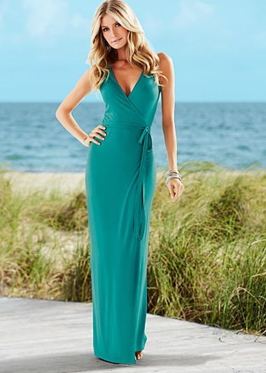 Wrap Maxi Dress $42  Indulge in the finer side of life with the poised and polished finesse of this maxi.  ·  Self tie belt
