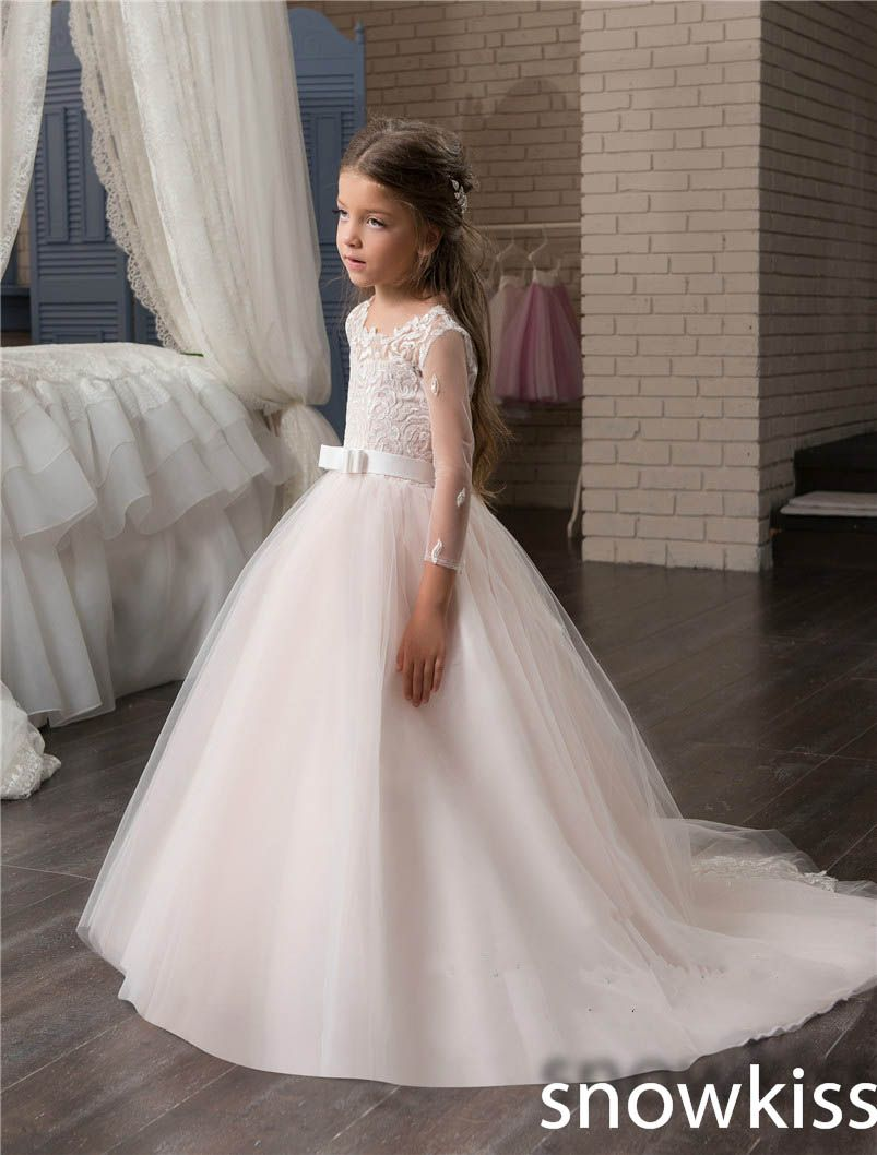 Blush pink girl dress  Click to Buy ucuc  cute blush pink flower girl dresses for wedding