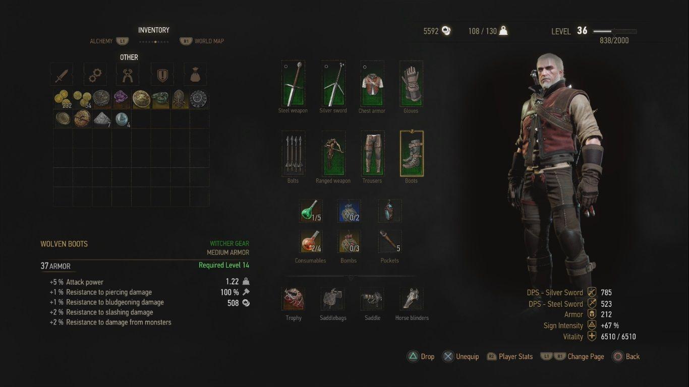 The Witcher 3 Wild Hunt Wolf School Gear DLC Scavenger Hunt