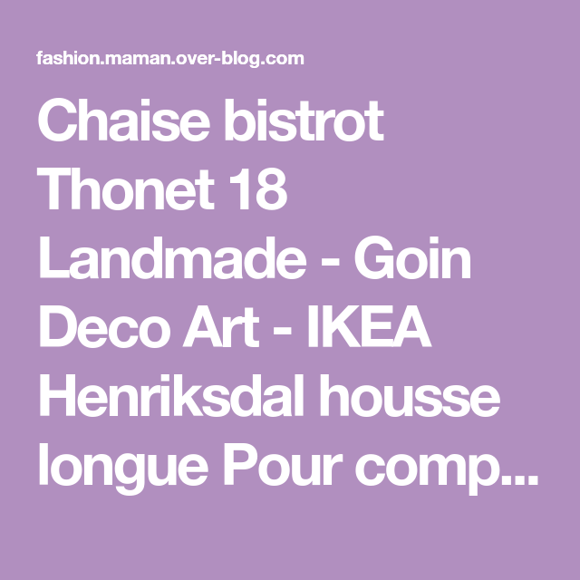Chaise Bistrot Thonet 18 Landmade