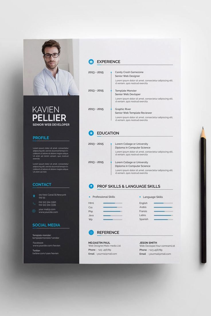 File Information A4 Paper Size 210x297 Mm Two Page Template Resume Cv One Page Template Reference One Page Modele Cv Modele De Cv Creatif Design Cv Creatif