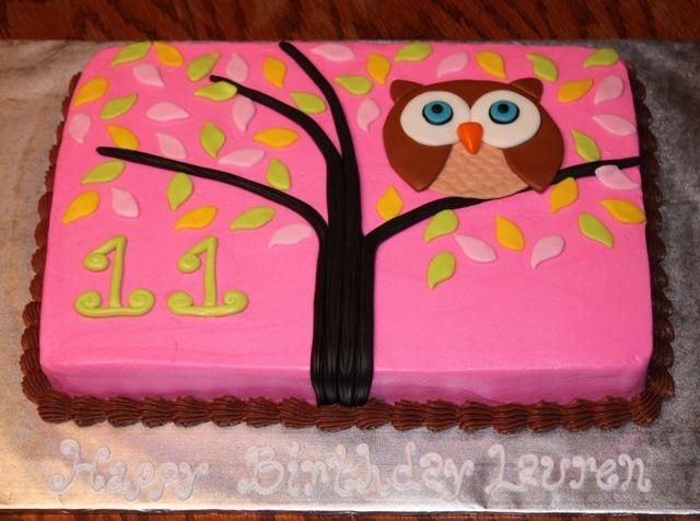 Owl Sheet Cake Sweet Treats By Me Birthday Sheet Cakes
