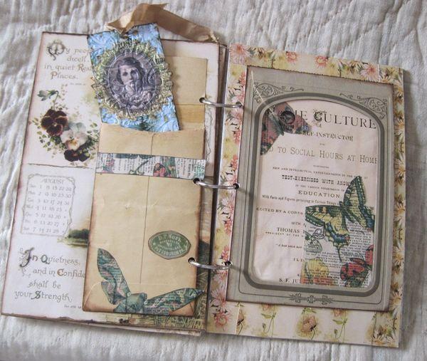 Beth S Gorgeous Hand Made Book Vintage Junk Journal Altered Book Art Junk Journal