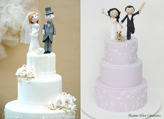 Bride And Groom Cake Toppers Models By Alessandra Frisoni