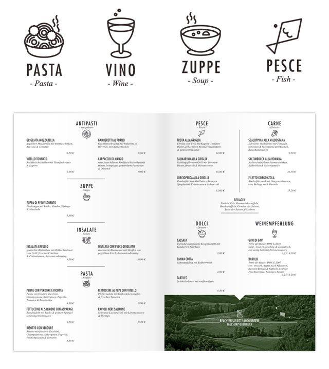 45 Restaurant Identity, Menu \ Stationery Designs Showcase - italian menu