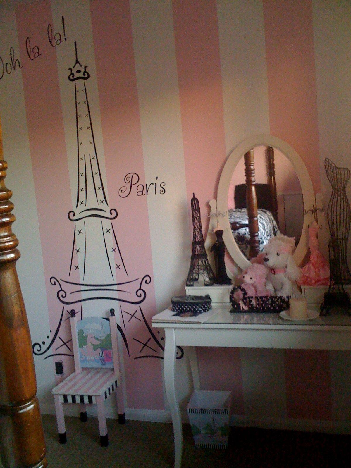 pretty paris room paris room makeover on a budget in 2019. Black Bedroom Furniture Sets. Home Design Ideas