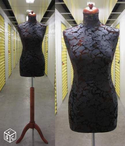 mannequin de couture buste femme neuf pied bois d coration rh ne mes nouveaut s. Black Bedroom Furniture Sets. Home Design Ideas