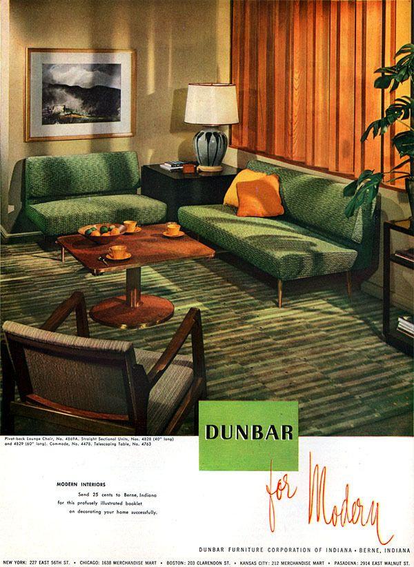love the sofas   Paps room   Pinterest   Mid century, Mid-century ...