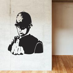 Banksy Police! Decal, $50, now featured on Fab.