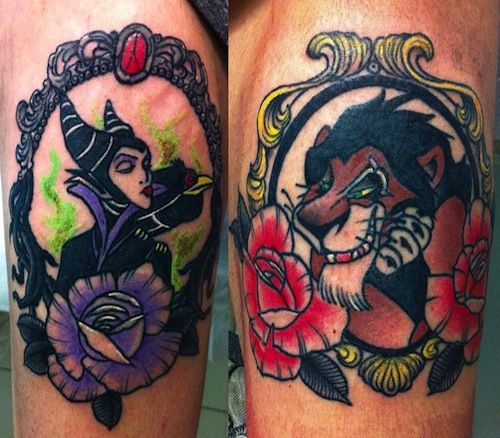 10 best disney villain tattoos tattoocom art tattoos