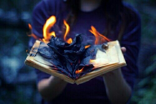 "(Open RP)The book burned in my hands,it's heat radiating steadily. Once it had burned up,I noticed someone was staring at me. Four words escaped their mouth.""Why'd you do that?"""