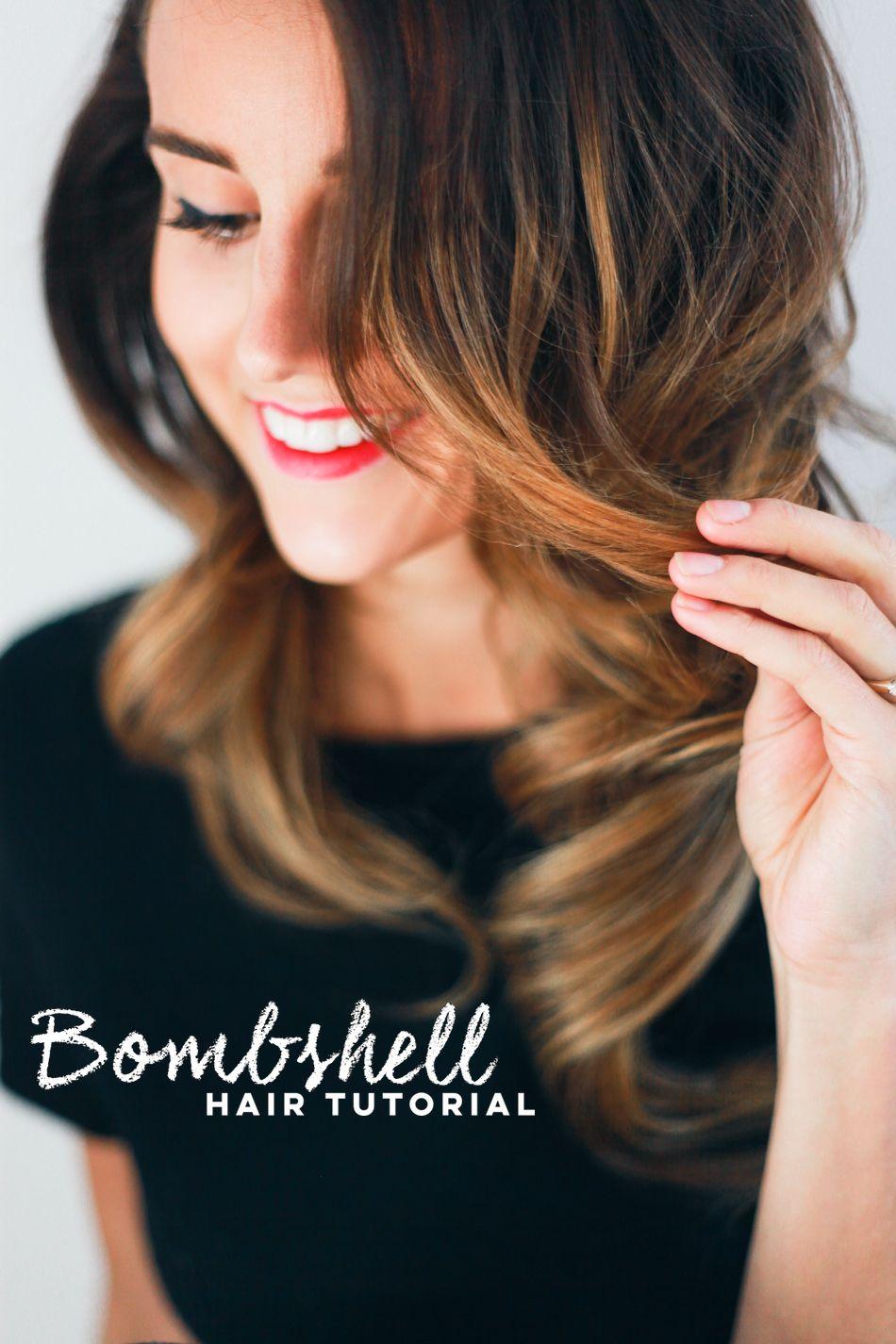 Holiday Hair Tutorial // Bombshell Curls — Treasures & Travels