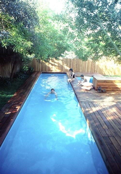 Asymmetric Lap Pool Designs With Small Deck Lappooldesignrequirements Diy In Ground Pool Small Pool Design Pool Patio
