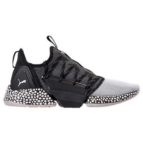 puma men's hybrid rocket runner casual shoes black  size