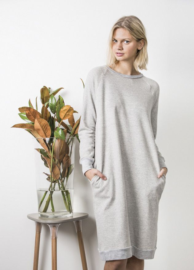 Jersey-Kleid - kostenloses Schnittmuster | Sewing school, Peppermint ...