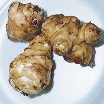 Jerusalem Artichoke Tubers - This easy to grow root vegetable has a unique nut-like flavor. Delicious when sliced raw in salads and taste like water chestnuts when added to Oriental foods at the last minute of cooking. Starch free and low in calories, they are excellent for diets. Although a member of the sunflower family, grow and store just like potatoes.