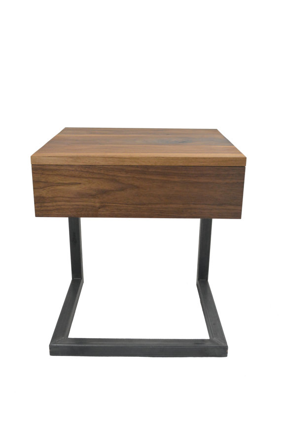 C Table   Nightstand   Side Table   Bedside Table   End Table   Drawer    Reclaimed Wood And Metal