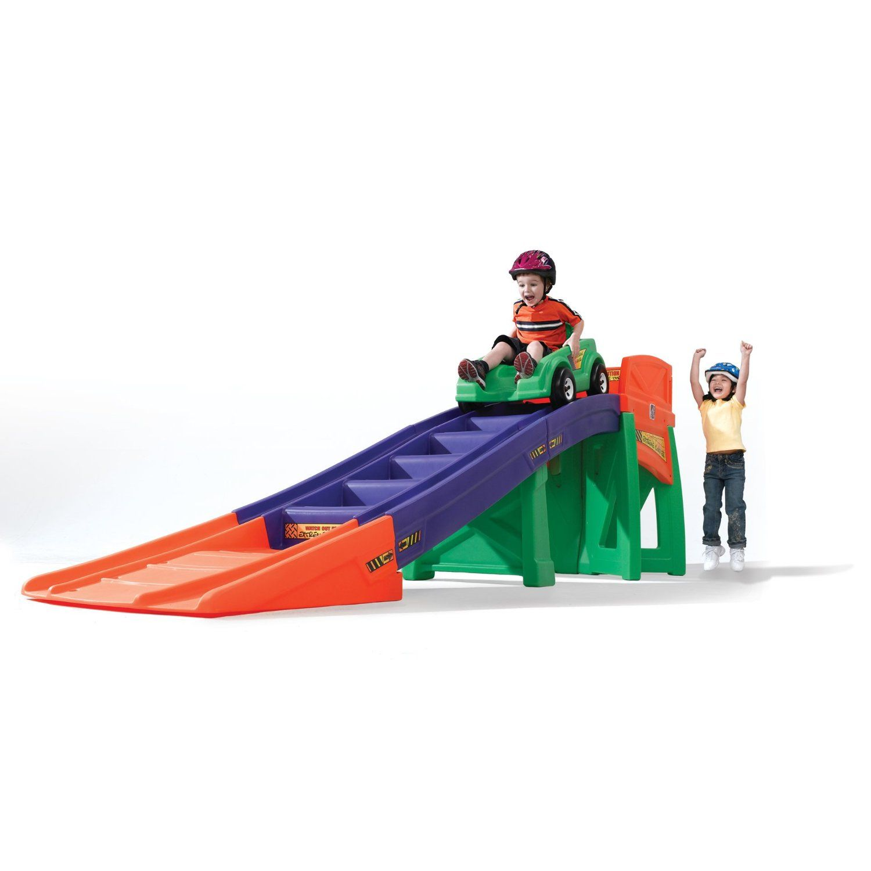 Amazon Com Step2 Extreme Coaster Toys Games Ride On Toys Extreme Roller Coaster Kids Toys Mini backyard roller coaster