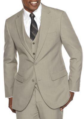 f5047fcea350 Saddlebred Men's Classic-Fit Look Suit Separate Jacket - Tan/Khaki - 50  Regular