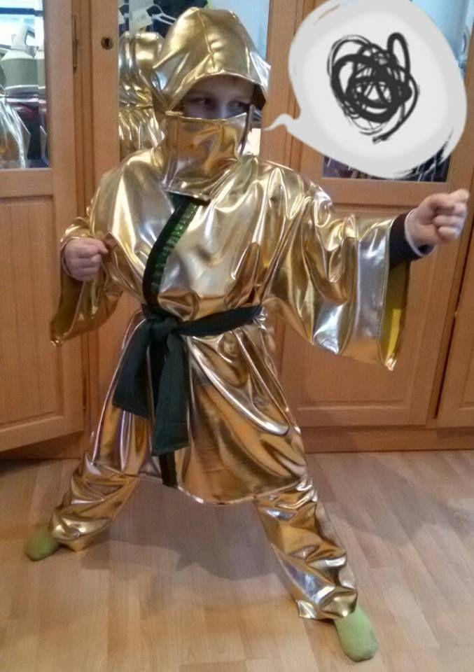 Goldener Ninja Aus Lego Ninjago Kostum Nahwettbewerb Kostume
