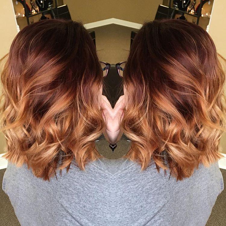 red copper ombre hair pinterest cheveux couleur cheveux et coiffure. Black Bedroom Furniture Sets. Home Design Ideas