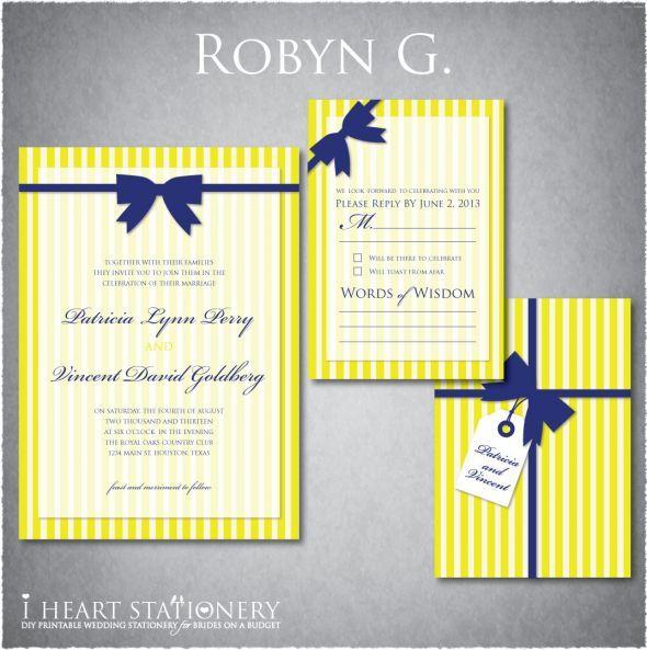 Classic Stripes Make A Cool Modern Design Royal Blue WeddingsBlue Yellow